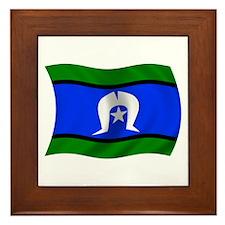 Waving TSI Flag Framed Tile