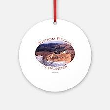 Wisdom Begins in Wonder Ornament (Round)