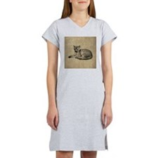Cute Vintage Cat Women's Nightshirt