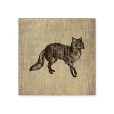 "Vintage Fox Square Sticker 3"" x 3"""