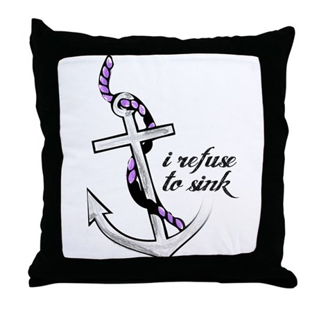 Refuse to sink. Throw Pillow