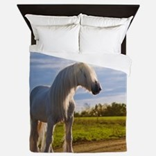 big shire horse Queen Duvet