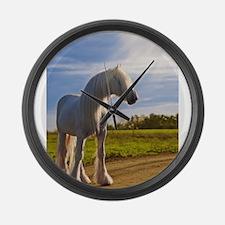 big shire horse Large Wall Clock