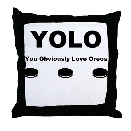 You Obviously Love Oreos Throw Pillow by listing-store ... You Obviously Love Oreos