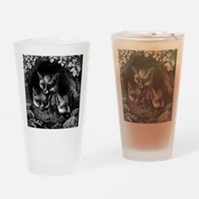 Vintage Foxes Drinking Glass