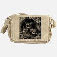Vintage Foxes Messenger Bag