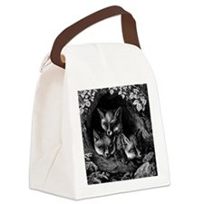 Vintage Foxes Canvas Lunch Bag