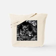 Vintage Foxes Tote Bag