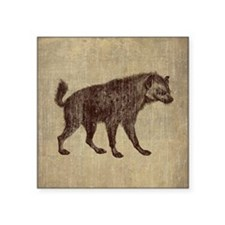 "Vintage Hyena Square Sticker 3"" x 3"""