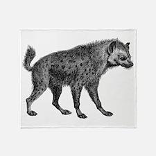 Vintage Hyena Throw Blanket