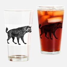 Vintage Hyena Drinking Glass