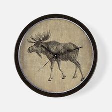 Vintage Moose Wall Clock