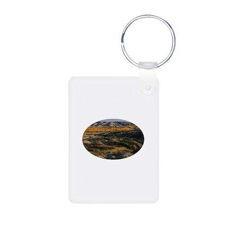 North Dakota Landscape Aluminum Photo Keychain