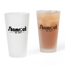 SHAMROCK LOGO 1 BLACK Drinking Glass