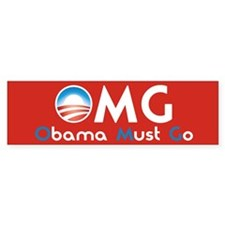 Obama Must Go Bumper Sticker