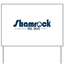 SHAMROCK LOGO 1 BLUE Yard Sign
