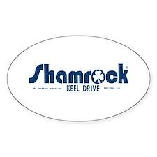 SHAMROCK LOGO 1 BLUE Decal