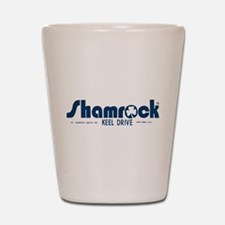SHAMROCK LOGO 1 BLUE Shot Glass