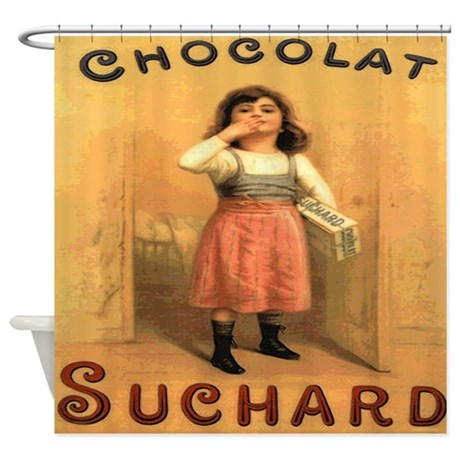 Vintage French Chocolate Poster Shower Curtain