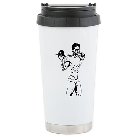 Pumpin Iron Stainless Steel Travel Mug