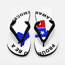 Delaware Democrat Pride Flip Flops