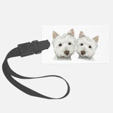 Two Cute West Highland White Dogs Luggage Tag