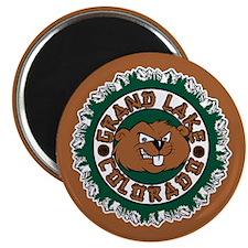 Grand Lake Beaver Circle Magnet