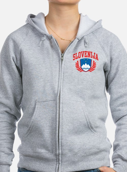 Slovenija Coat of Arms Zip Hoodie