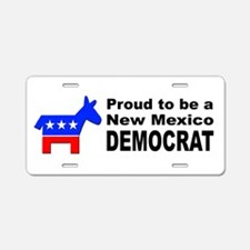 New Mexico Democrat Pride Aluminum License Plate