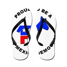 New Mexico Democrat Pride Flip Flops