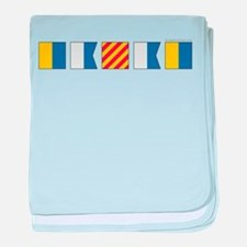 Cool Power boats baby blanket