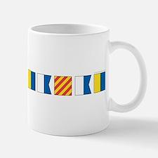 Nautical Flags Plain Mugs