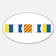Cute Nautical Sticker (Oval)