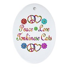 Tonkinese Cats Ornament (Oval)