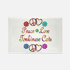 Tonkinese Cats Rectangle Magnet