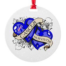 Male Breast Cancer Survivor Ornament