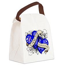 Male Breast Cancer Survivor Canvas Lunch Bag