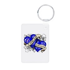 Male Breast Cancer Survivor Keychains