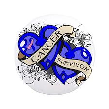"Male Breast Cancer Survivor 3.5"" Button (100 pack)"