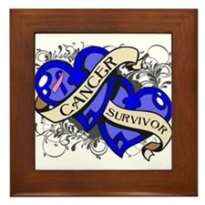 Male Breast Cancer Survivor Framed Tile