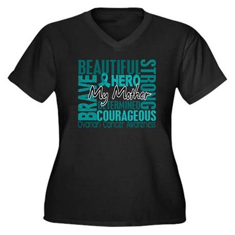 Tribute Square Ovarian Cancer Plus Size T-Shirt