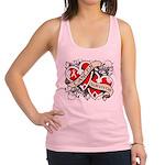 Mesothelioma Survivor Hearts Racerback Tank Top