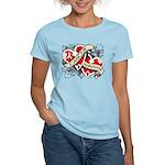 Mesothelioma Survivor Hearts Women's Light T-Shirt