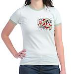 Mesothelioma Survivor Hearts Jr. Ringer T-Shirt