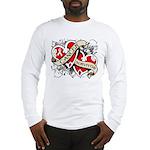 Mesothelioma Survivor Hearts Long Sleeve T-Shirt