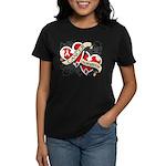 Mesothelioma Survivor Hearts Women's Dark T-Shirt