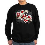Mesothelioma Survivor Hearts Sweatshirt (dark)