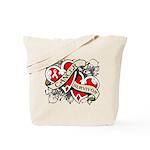 Mesothelioma Survivor Hearts Tote Bag