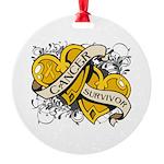Neuroblastoma Survivor Round Ornament
