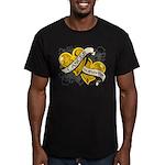 Neuroblastoma Survivor Men's Fitted T-Shirt (dark)